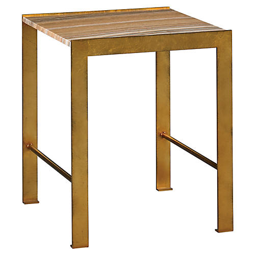 Hunter Side Table, Rust/Gold