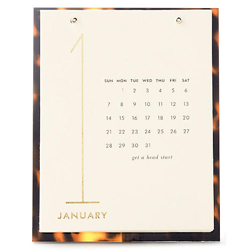 Tortoise Desktop Calendar, Brown