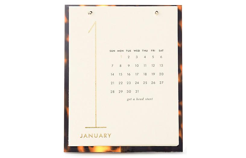 Tortoise Desktop Calendar, Brown