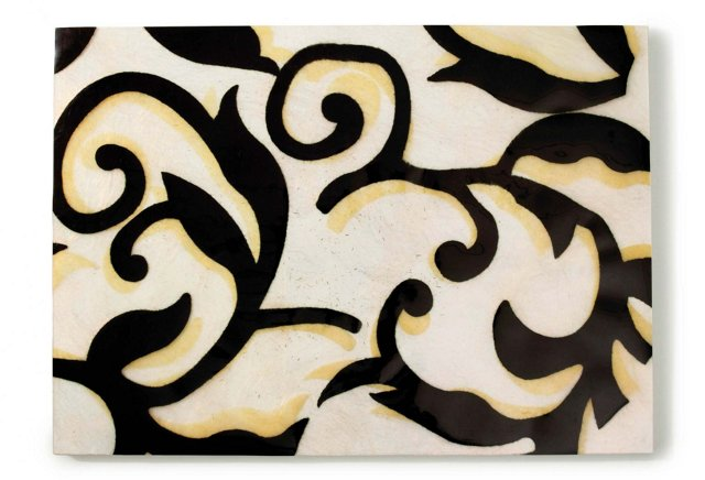 S/4 Ornament Place Mats, Black
