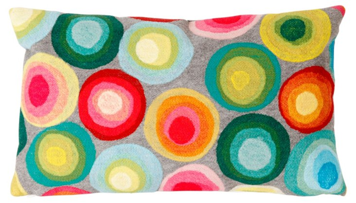 S/2 Puddle Dot 12x20 Pillows, Multi