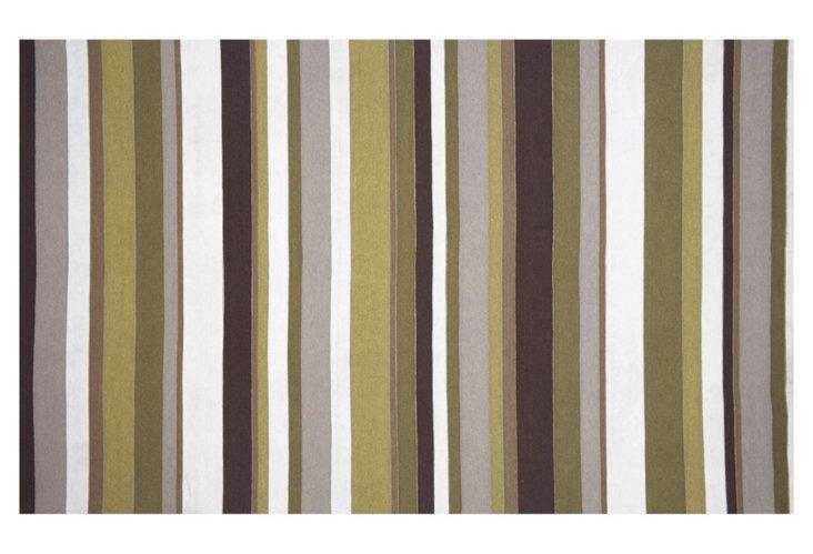 2'x5' Visions Coastal Rug, Olive/Multi