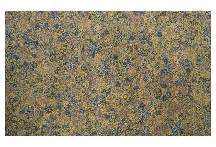 Giant Swirls Outdoor Rug, Wheat