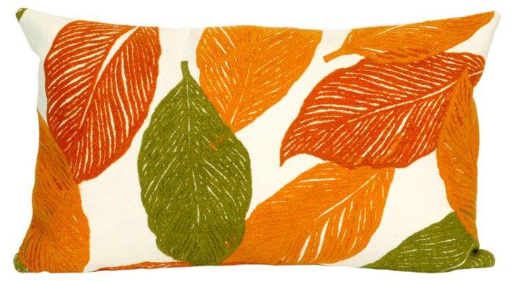 Set of 2 Leaves 12x20 Pillows, Orange