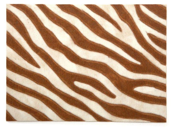 S/4 Zebra Print Place Mats, Amber