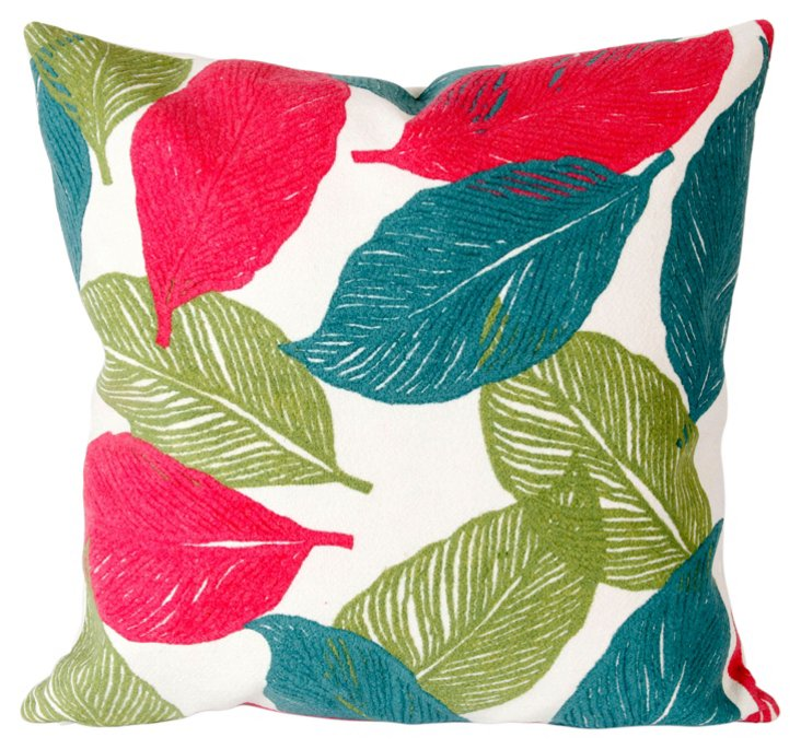 Set of 2 Cut Leaves 20x20 Pillows, Pink