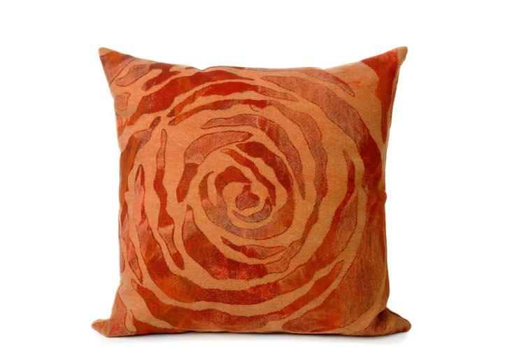 S/2 Dyed Roses 20x20 Pillows, Orange