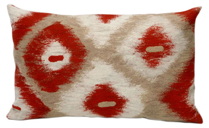 Set of 2 Native 12x20 Pillows, Red