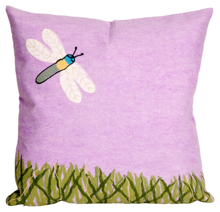 Set of 2 Meadow 20x20 Pillows, Lilac