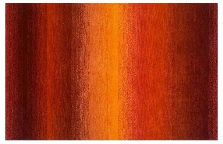 Marston Rug, Orange/Rust/Red