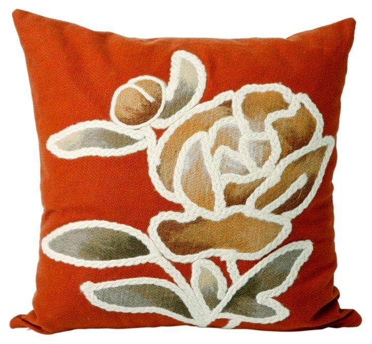 Set of 2 Leaf 20x20 Pillows, Orange