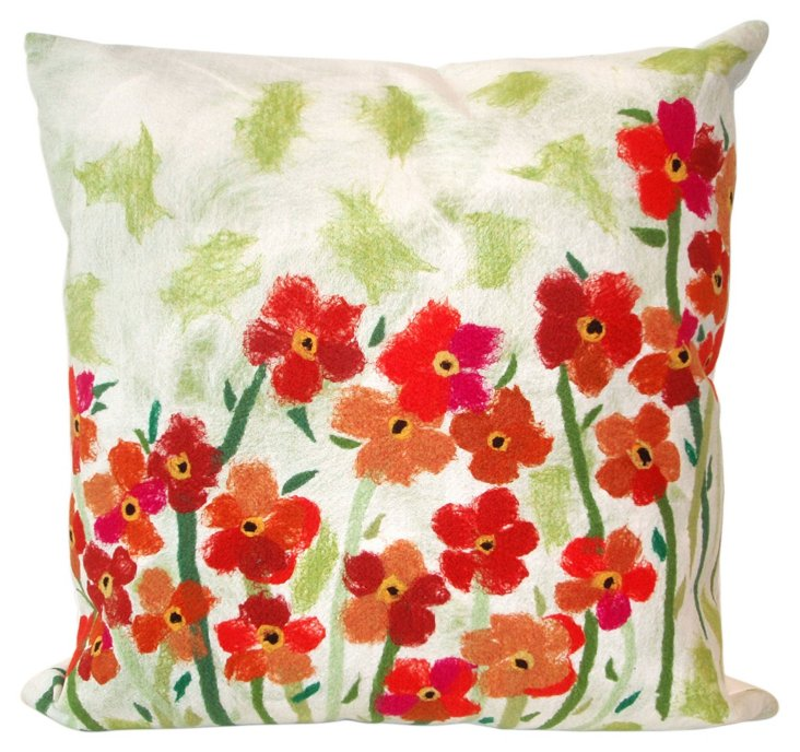 Set of 2 Field 20x20 Pillows, Red