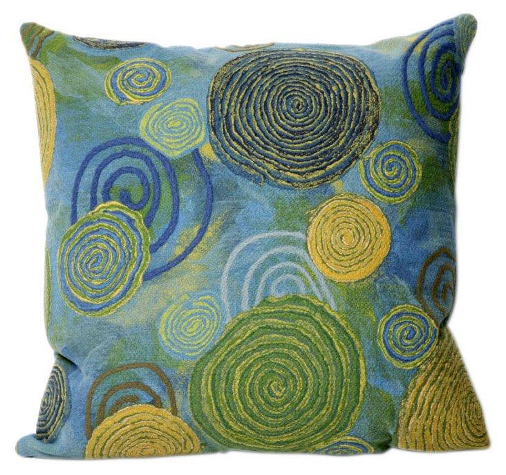 Set of 2 Spiral 20x20 Pillows, Cool