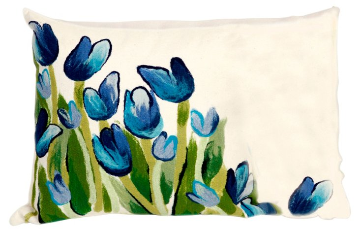 Set of 2 Tulip 12x20 Pillows, Blue