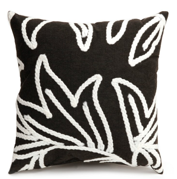 S/2 Flower 18x18 Pillows, Charcoal