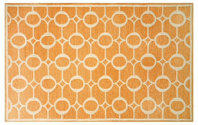 Grace Outdoor Rug, Orange