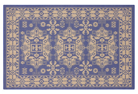 Taos Outdoor Rug, Marine Blue