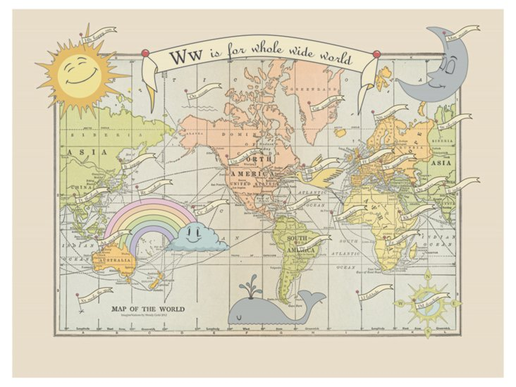 W Is for Whole Wide World Map
