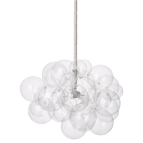 31-Bubble Chandelier, White Cord
