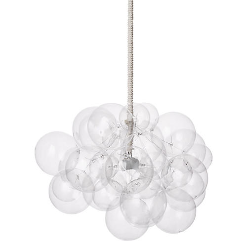 Bubble Cloud Chandelier, White Cord