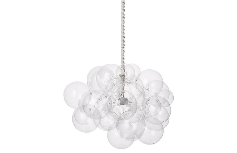 Bubble Cloud Chandelier, White Cord