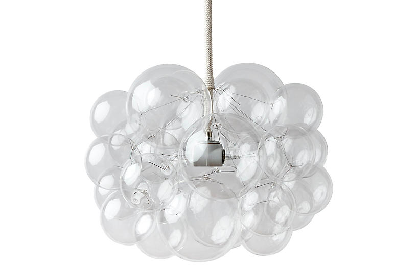 Twenty Five Bubble Chandelier, Cotton Cord