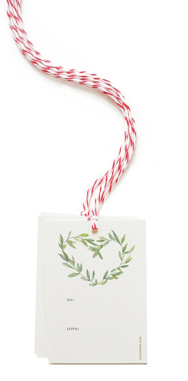 S/8 Gift Tags, Garland Wreath
