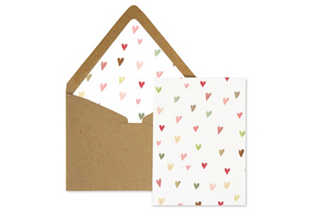 S/8 Mini Cards, Hearts For You