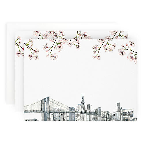 S/10 New York Skyline Note Cards