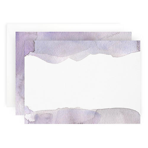 S/10 Purple Wash Note Cards