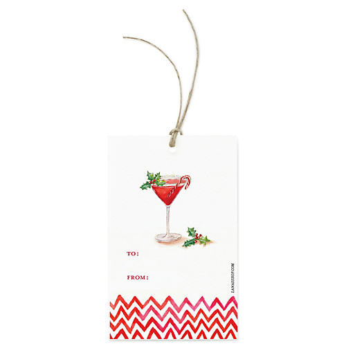 S/12 Martini Gift Tags