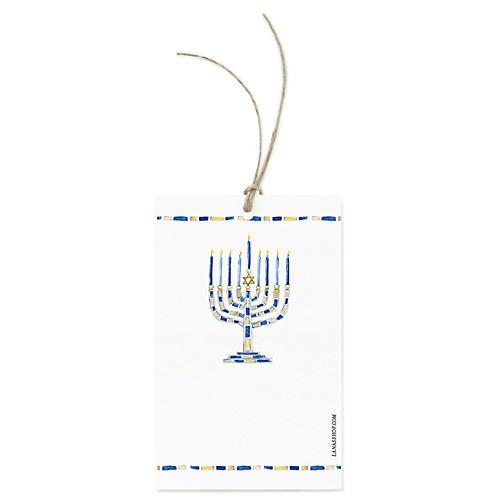 S/12 Menorah Gift Tags