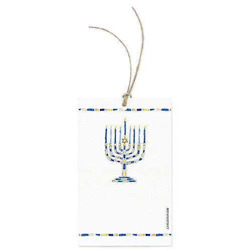 S/12 Menorah Gift Tags