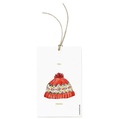 S/12 Winter Hat Gift Tags