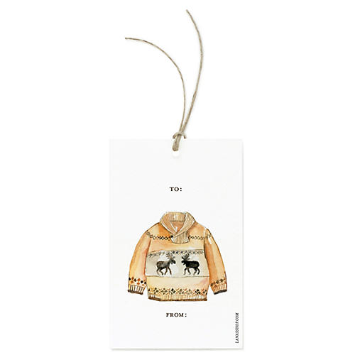 S/12 Sweater Gift Tags