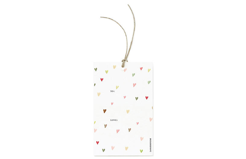 S/12 Hearts Gift Tags