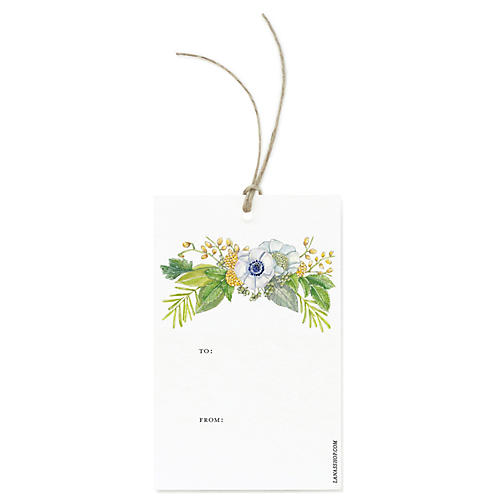 S/12 Floral Bouquet Gift Tags