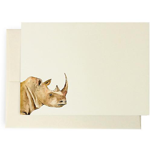 S/10 Rhino Note Cards