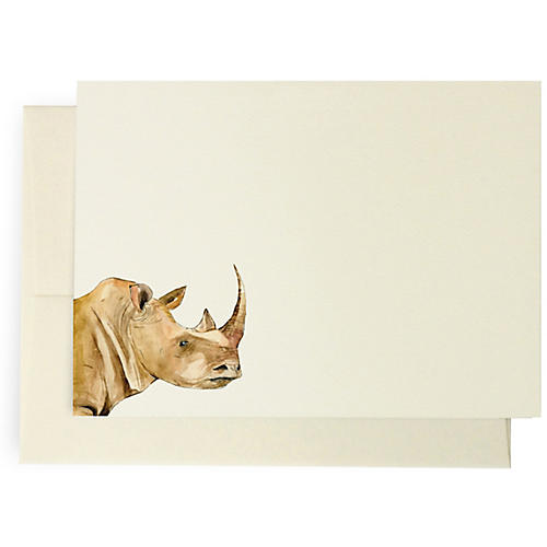 S/10 Rhino Note Cards