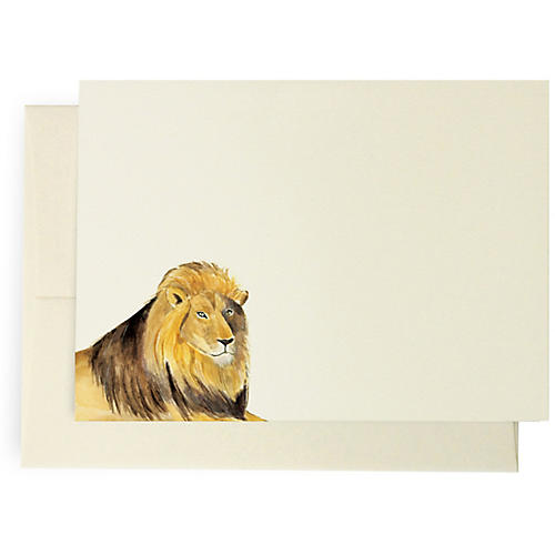 S/10 Lion Note Cards