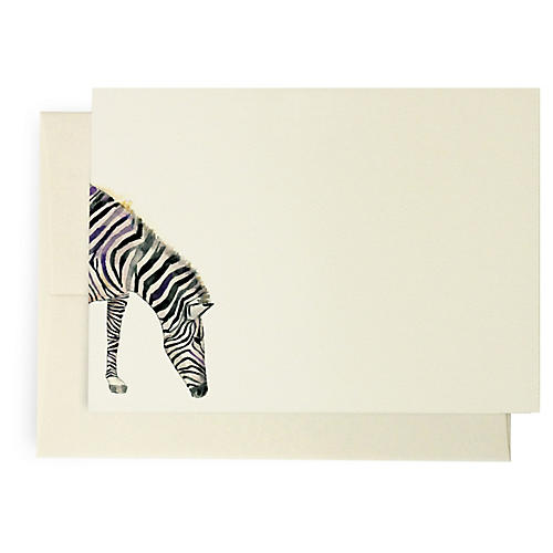 S/10 Zebra Note Cards