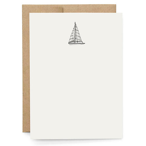 S/10 Smooth Sailing Note Cards