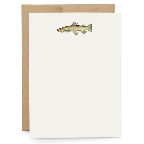 S/10 Trout Note Cards