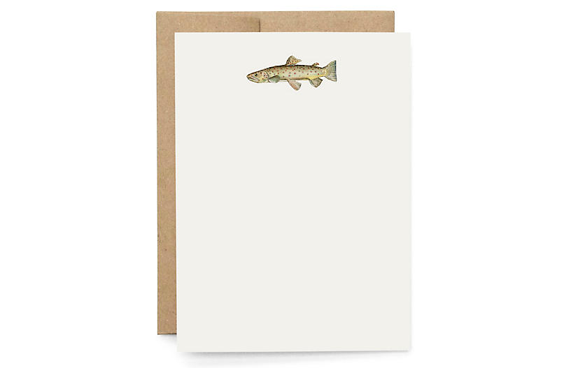 S/6 Trout Note Cards