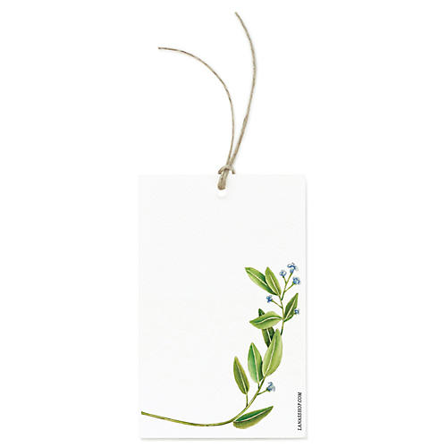 S/12 Botanical Spring Gift Tags