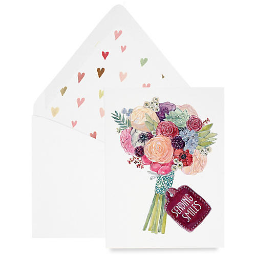 S/8 Sending Smiles Greeting Cards