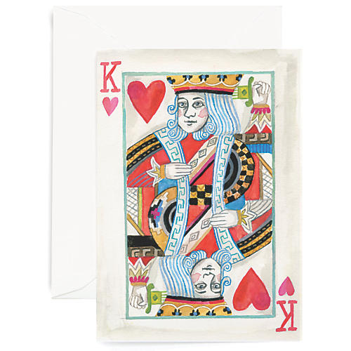 S/8 King Of My Heart Greeting Cards