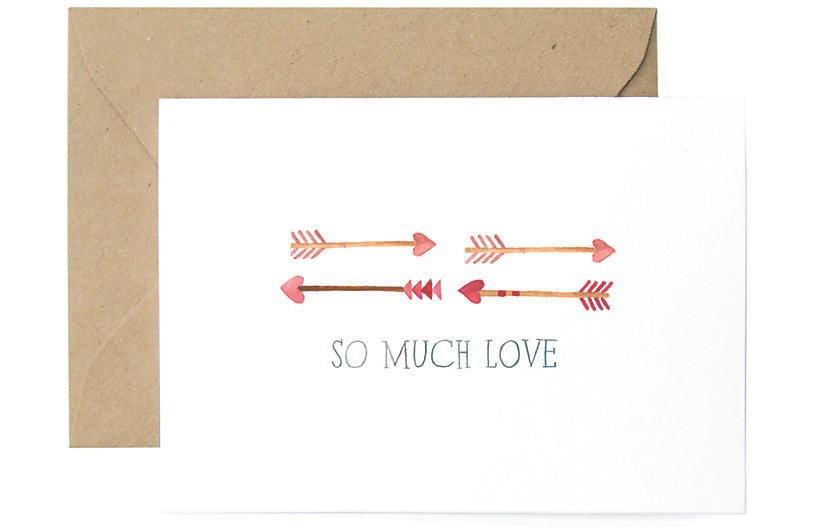 S/8 So Much Love Greeting Cards