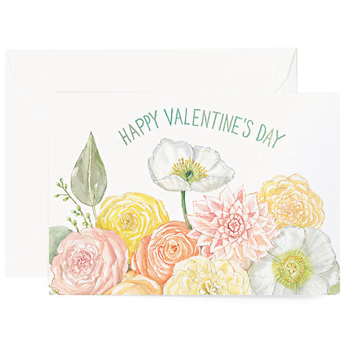 S/8 Floral Valentines Greeting Cards
