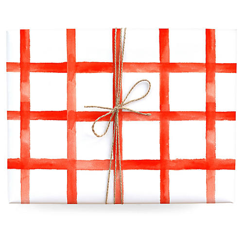 S/3 Checkered Gift Wrap